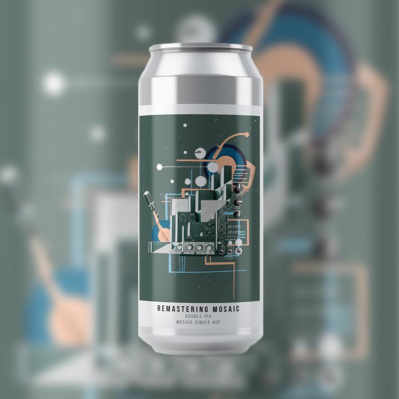 Cerveja artesanal Remastering Mosaic Double IPA – Octopus 473ML